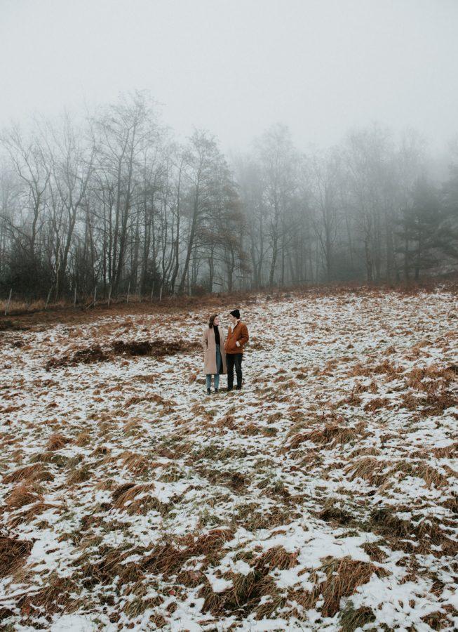 Love shoot in het bos