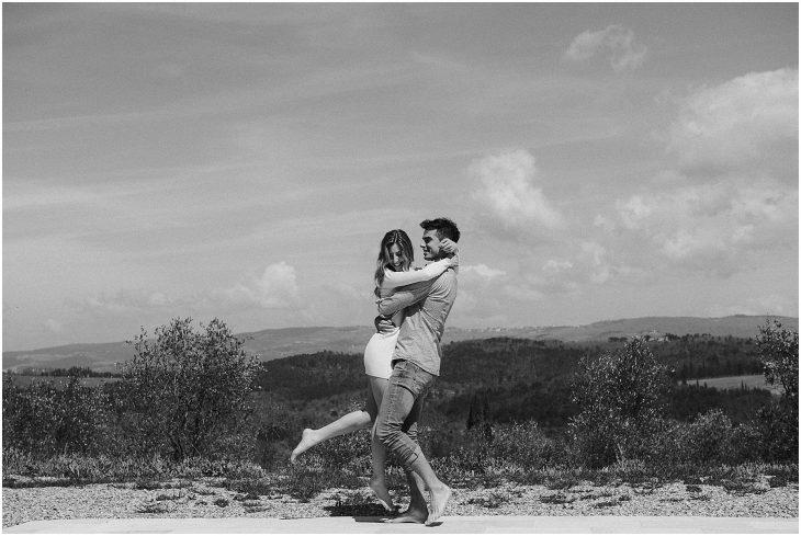 Engagement shoot Tuscany