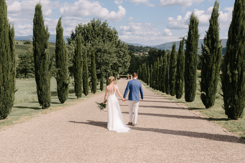 Photoshoot of wedding in Tuscany