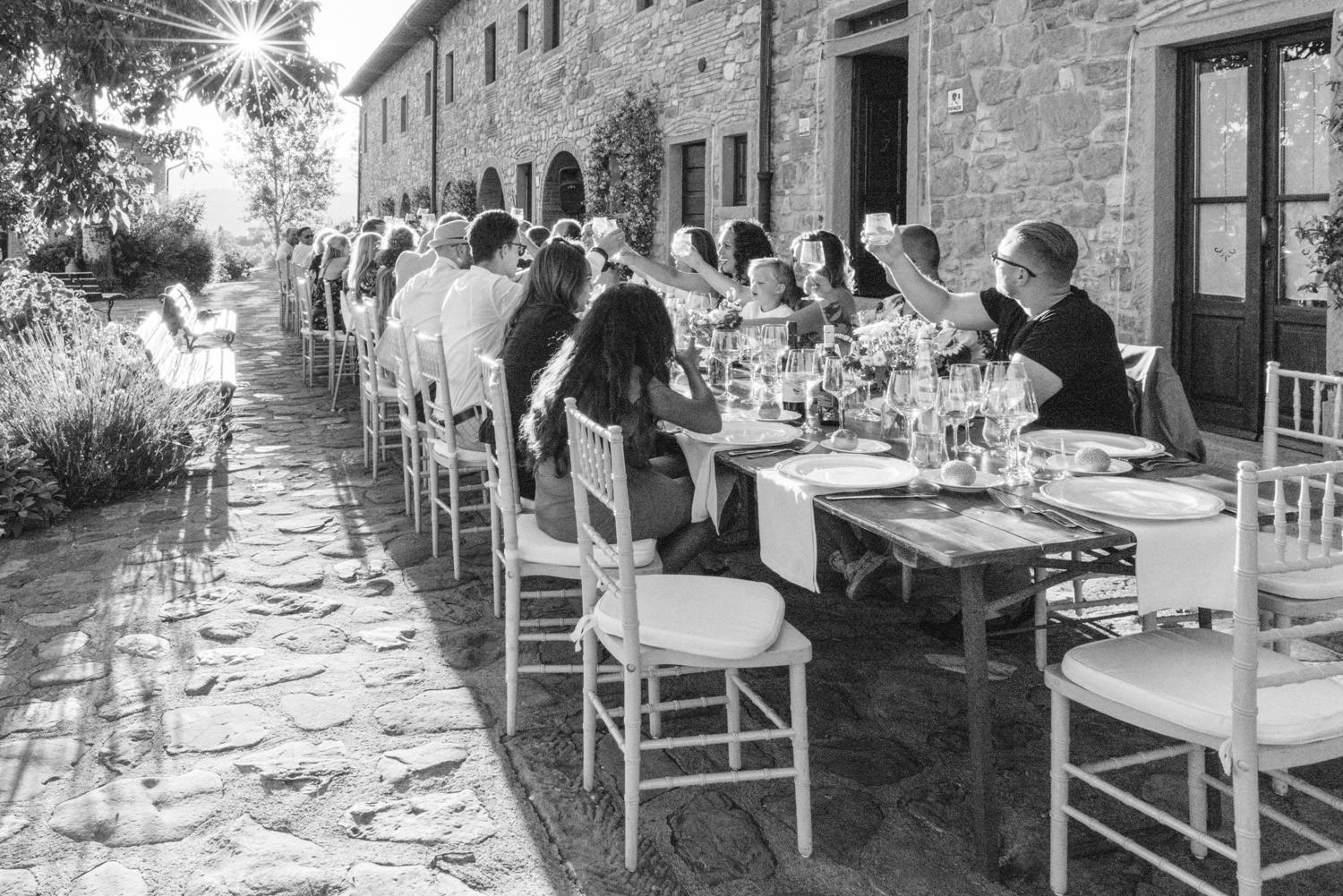 Wedding diner in Tuscany